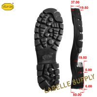 Vibram 1375 Bifida Full Soles with dimension