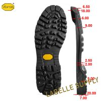 Vibram 121P Zeppa Full Soles with dimension