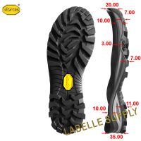 Vibram 502P Lite Wolf Full Soles with dimension
