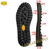 Vibram 056C Winter City Full Soles with dimension